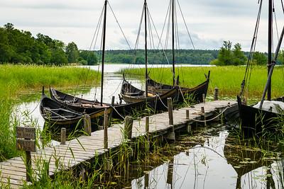 Viking ships at Birka, Sweden