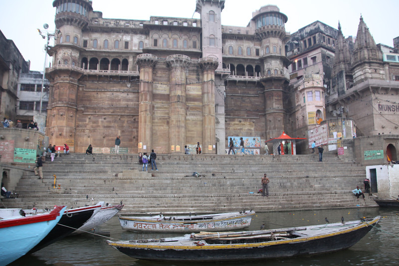 ghat of old palace on Ganges