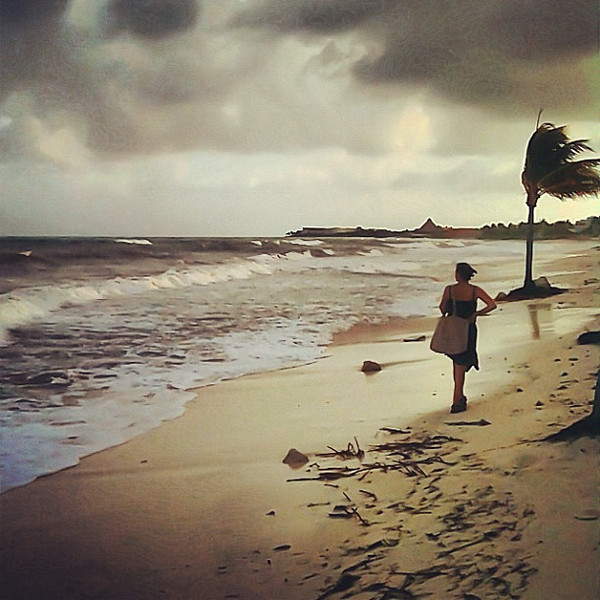 Late afternoon walk on the beach, Riviera Maya #WeVisitMexico