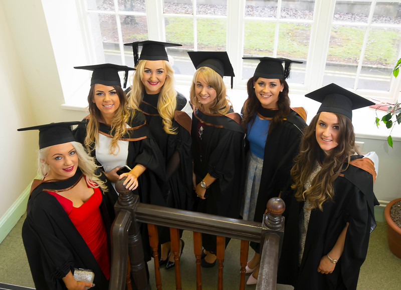 29/10/2015. Waterford Institute of Technology conferring. Pictured are Lisa McCarthy Cork, Amy Duggan, Dungarvan, Kirsty Mason, Waterford, Christine Collins, Cork, Danni Irwin, Clonmel, Aine Hickey, Cahir,  Picture: Patrick Browne