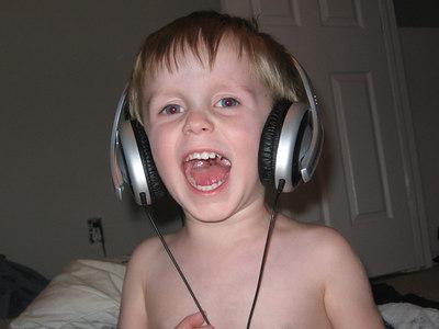 Aidan and headphones