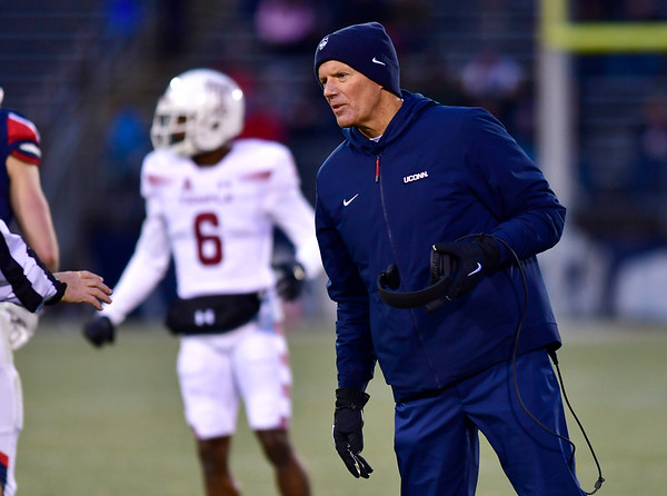 11/24/2018 Mike Orazzi | Staff UConn Football Coach Randy Edsall during Saturday's Uconn football game at Rentschler Field in East Hartford.