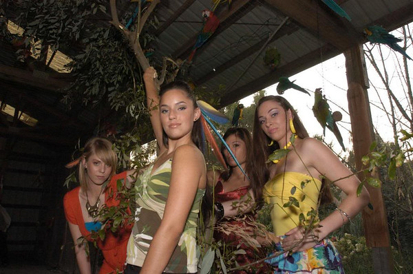 Our Models visit Macaws