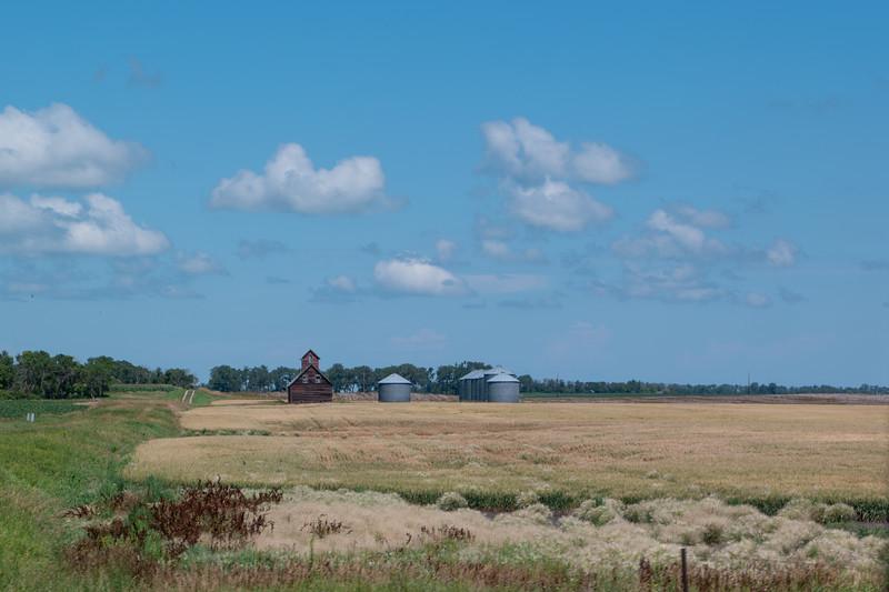 Barn and Silos Near Wadena, MN
