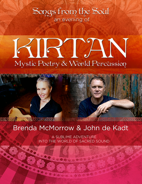 Promotional Poster - Brenda McMorrow, Kirtan Singer. Photography only.