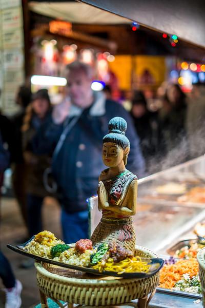 Asian food stall, Camden, London, United Kingdom
