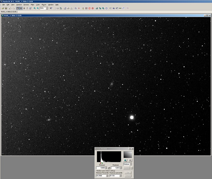 4. MaximDL-Process-Calibrate - Your image has been calibrated. The issues of the optics and the electronics are removed but the light pollution is still present. You see it now. The light pollution is not your fault but you must remove it as well.jpg