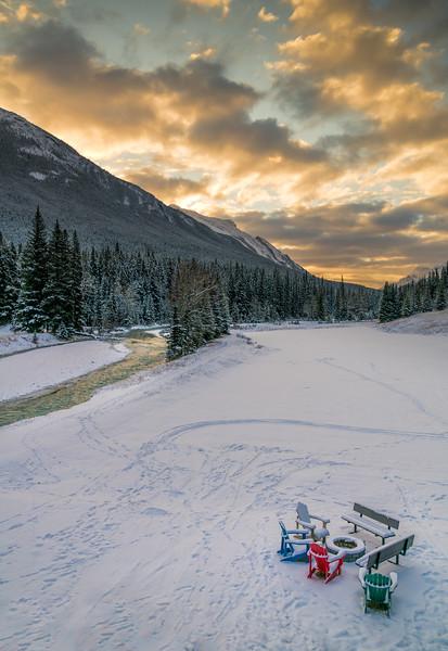 Bow River, Banff Springs Hotel, Banff, AB
