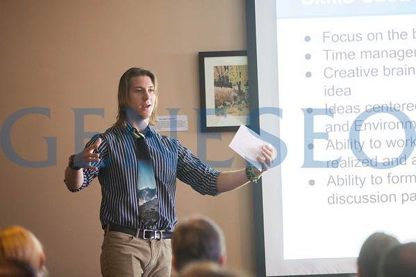 Student Presentation in Hunt Room (3 images)