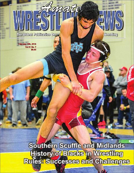Amateur Wrestling News Cover, Feb, 2016