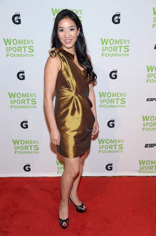 . NEW YORK, NY - OCTOBER 16:  Figure skater Michelle Kwan attends the 34th annual Salute to Women In Sports Awards at Cipriani, Wall Street on October 16, 2013 in New York City.  (Photo by Michael Loccisano/Getty Images for the Women\'s Sports Foundation)