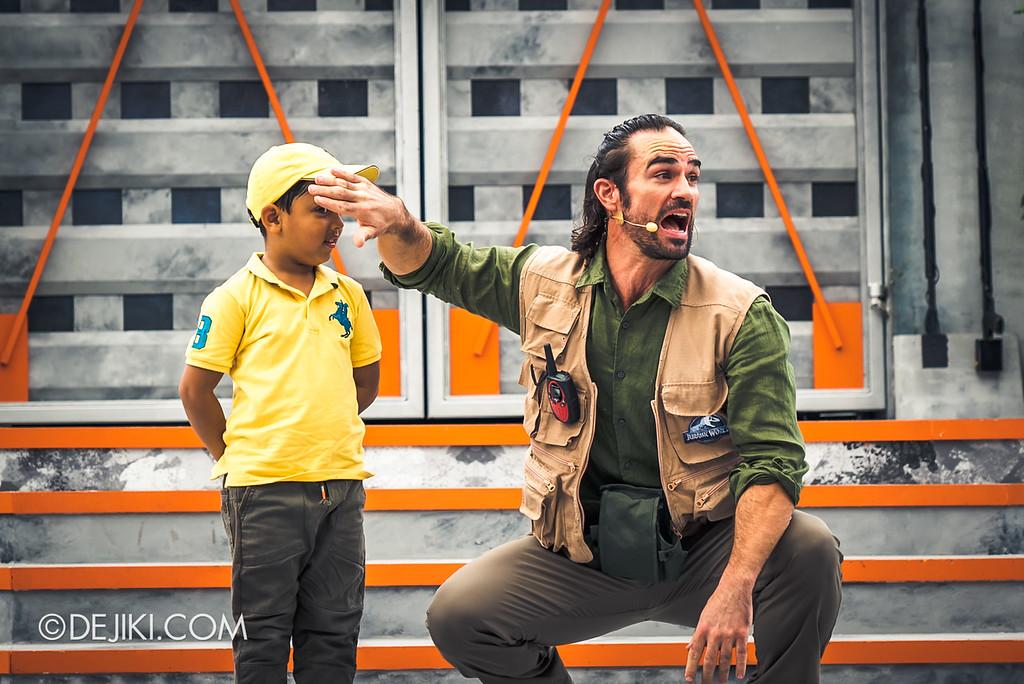 Universal Studios Singapore Park Update - Jurassic World Explore and Roar event - Jurassic World: ROAR! show / kid volunteer