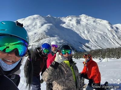 2019-02-04  Day 3 - Sunny!  Bella Coola Heli-boarding