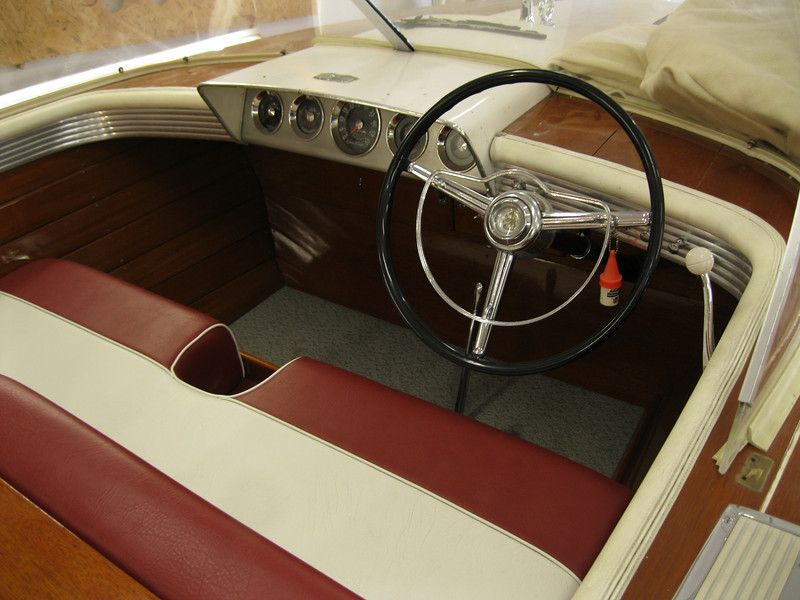 Steering wheel raised 2 1/2 inches to allow your leg to pass between the steering wheel and the seat.