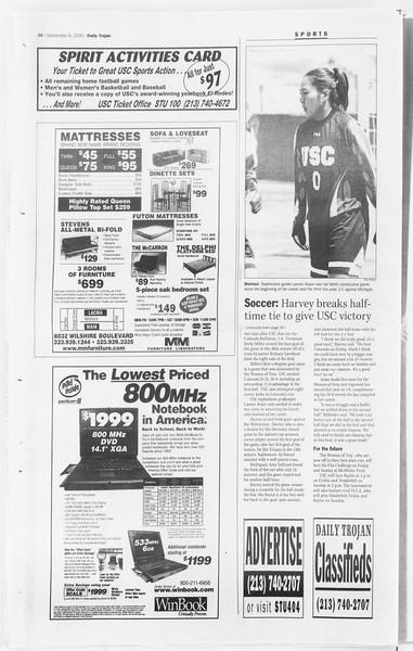 Daily Trojan, Vol. 141, No. 6, September 06, 2000