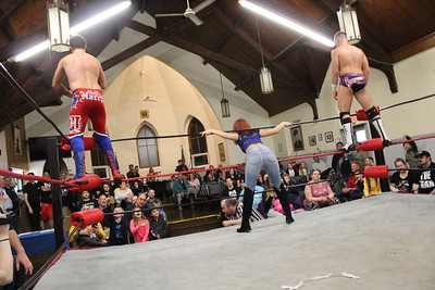 "Channing Thomas & Brett Ryan Gosselin vs. NCW Heavyweight Champion Osirus & ""Foxy"" Calvin Campbell with Doc Ozone"