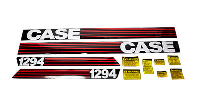 DAVID BROWN 1294 CASE SERIES BONNET DECAL SET