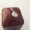 1.03ct Pear Shape Rose Cut Diamond Pendant 11