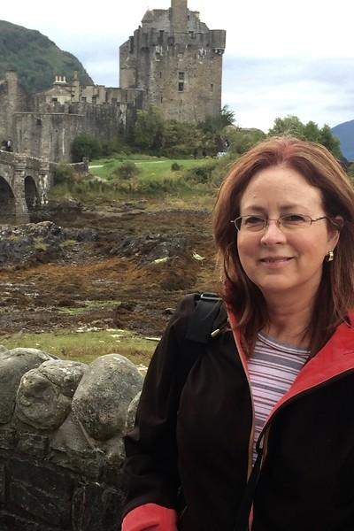 The photographer, at Eilean Donan Castle - Sept 2015