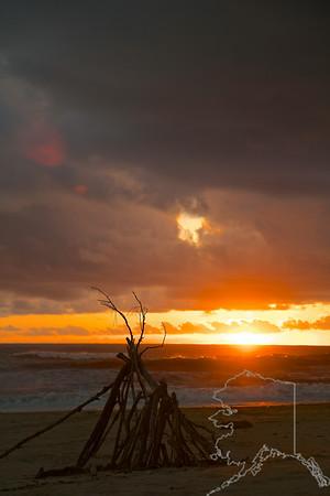 Sunset on Kawai