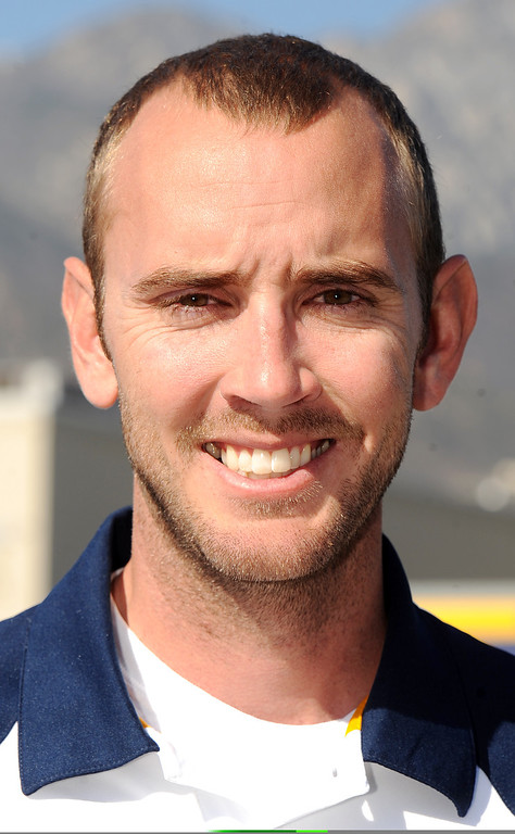 . Dave Merryman water polo coach at Los Osos High School has been named Coach of the Year and to the Daily Bulletin\'s All-Valley Girl\'s water polo team. Staff photo by Will Lester.