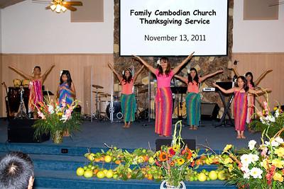 Family Cambodian Church Thanksgiving: November 13, 2011