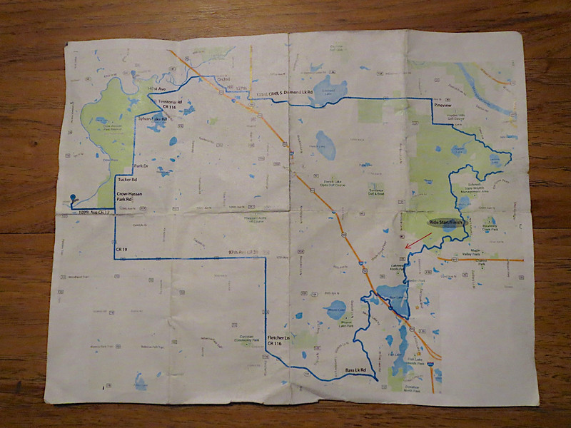 This is the route that Scott planned out for us. It was 50 miles and had a real interesting variety of roads and bicycle paths.