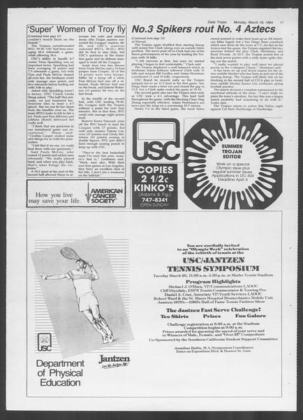 Daily Trojan, Vol. 95, No. 48, March 19, 1984