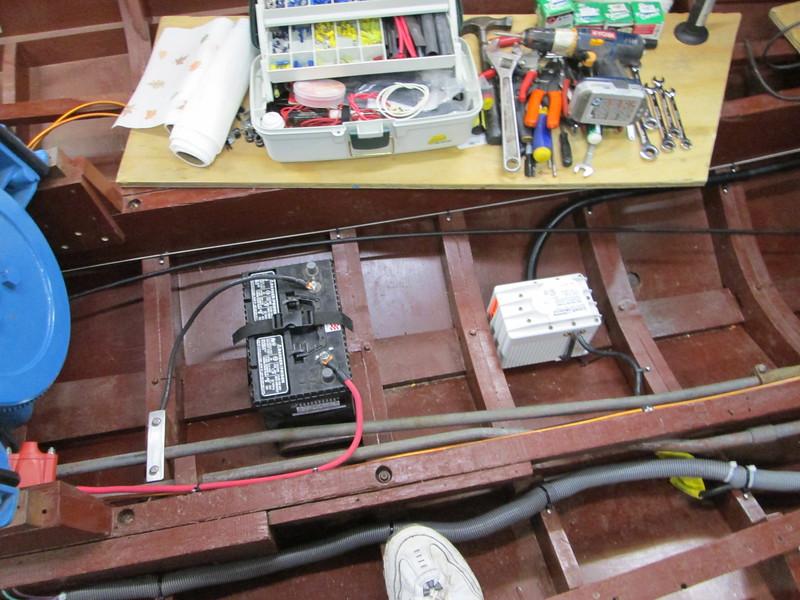 Front bilge pump installed.