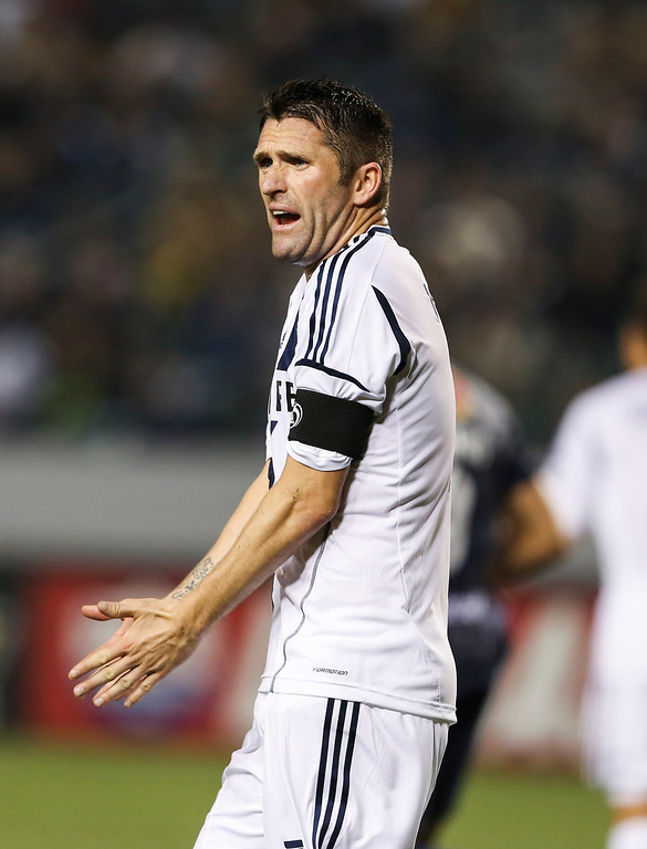 . Los Angeles Galaxy forward Robbie Keane during the CONCACAF Champions League semifinal, Wednesday, April 3, 2013, in Carson, Calif. Monterrey won 2-1. (AP Photo/Bret Hartman)
