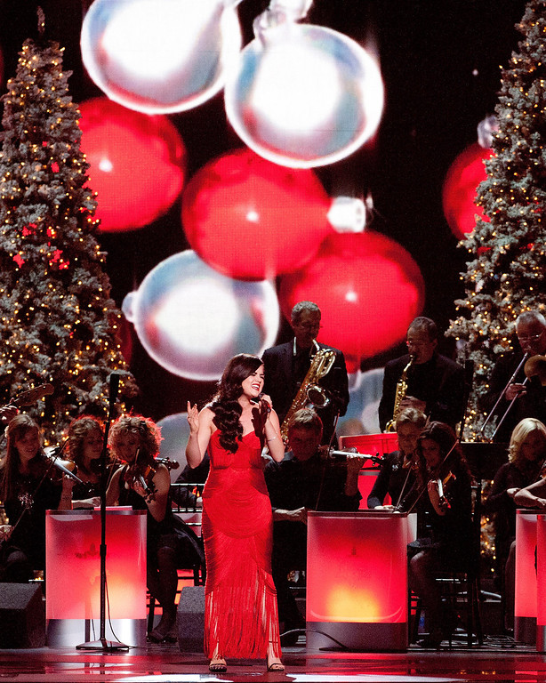 . Lucy Hale performs during the CMA 2013 Country Christmas on November 8, 2013 in Nashville, Tennessee.  (Photo by Erika Goldring/Getty Images)