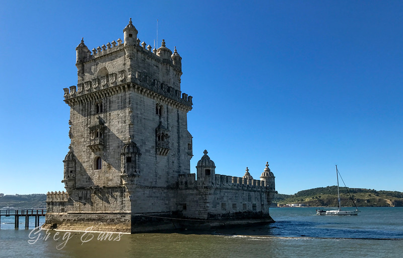 Belém Tower, located in the civil parish of Santa Maria de Belém in the municipality of Lisbon, Portugal