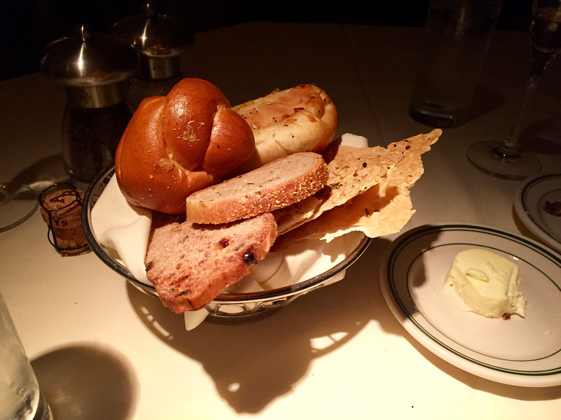 Bread basket and butter