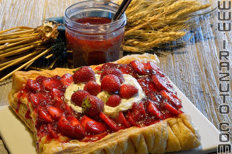 Dessert aux fraises