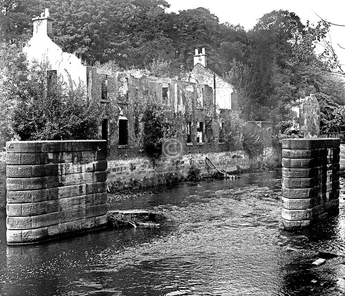 River Kelvin at Kelvindale Paper Mill.