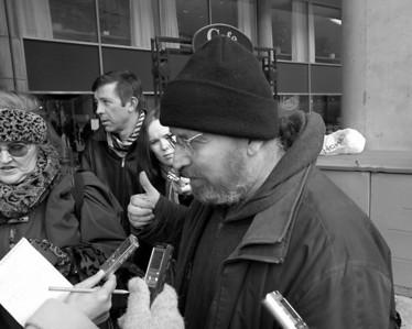OCAP protests city dismantling of shelter system