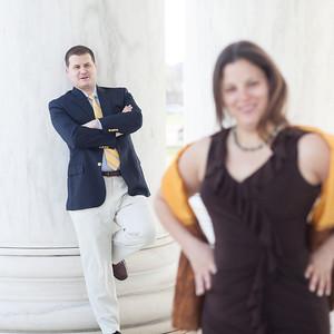 2013-04-03 DC - Christina & Martine Engagement @ Jefferson Memorial