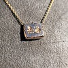 'For You I Live' 18kt Rose Gold Cast Rebus Pendant, by Seal & Scribe 18