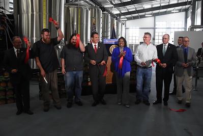 Mayor and Governor Cut Ribbon at Three Heads Brewing - 5/18/2016