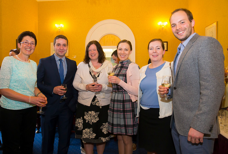 18/05/2016. Irish Accounting & Finance Accociation Annual Conference at WIT (Waterford Institute of Technology). Pictured at The Mayor's reception are Dr Sheila O'Donohoe, Anthony Burke, Ashling Tuite, Oksana Doherty, Nora Gordon and Heiko Petry. Picture: Patrick Browne