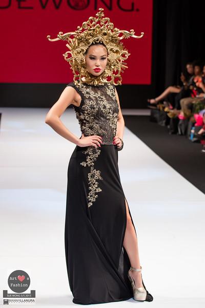 LAFW  LA Fashion Week Sue Wong S/S 2015 Art Hearts