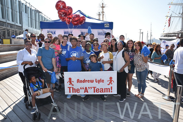 Sept 16, 2018 Andrew Lyle and The A Team walk with Autism Speaks