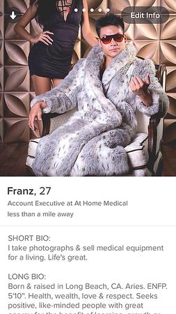 Franz's Tinder Profile