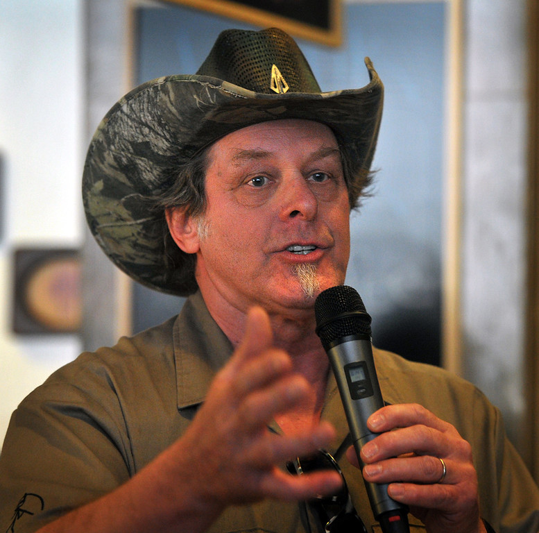 ". <p><b> Ted Nugent�s latest harsh attacks on President Obama, calling him a �subhuman mongrel,� appear to indicate that the one-time rocker may be � </b> <p> A. Losing touch with reality <p> B. Abusing drugs and alcohol <p> C. The Tea Party favorite to win the 2016 GOP presidential nomination <p><b><a href=\' http://mediamatters.org/blog/2014/02/24/ted-nugents-pathetic-new-lie-obama-made-same-ra/198189\' target=""_blank\"">HUH?</a></b> <p>   (AP Photo/Wichita Falls Times Record News, Torin Halsey)"