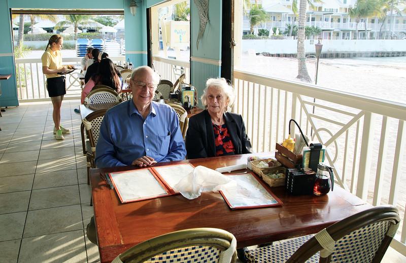 John Sr. and Carol at breakfast