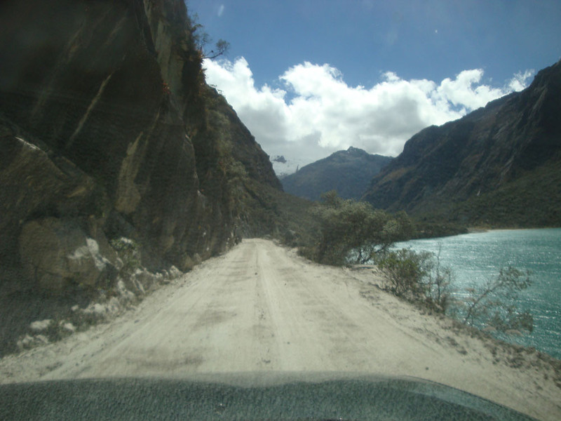 Finally, we were close. We'd reached the famous Llanganuco region of the twin lakes.