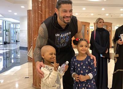 Roman Reigns - Superstars visit Childrens Hospital in Jeddah (June 7, 2019)