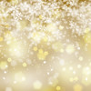 Abstract golden snowflake background