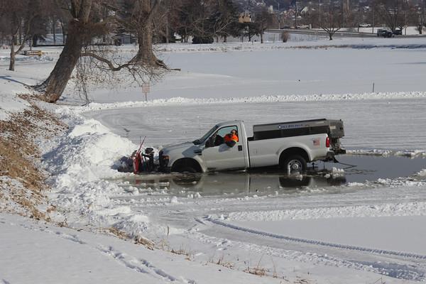 Truck in ice