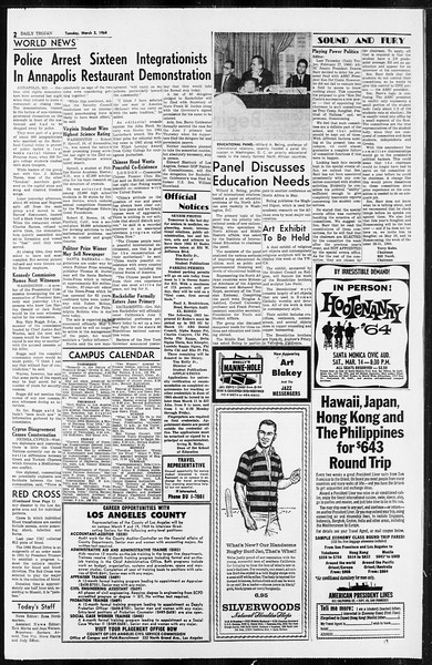 Daily Trojan, Vol. 55, No. 74, March 03, 1964